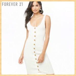 New Forever21 Ivory Knit Midi Dress